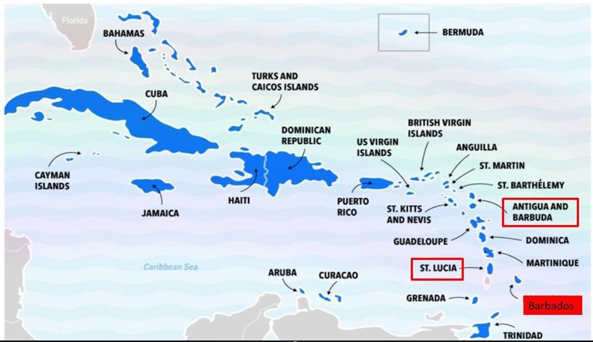 Barbados - úszás a teknőssel