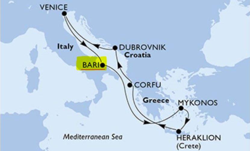 Első kikötőnk - Bari (Italy)