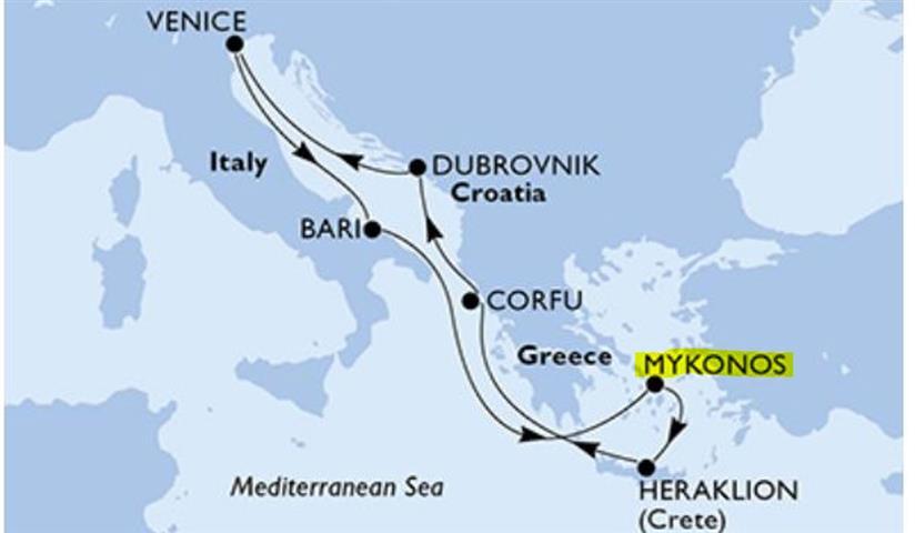 Második kikötőnk: Mikonosz