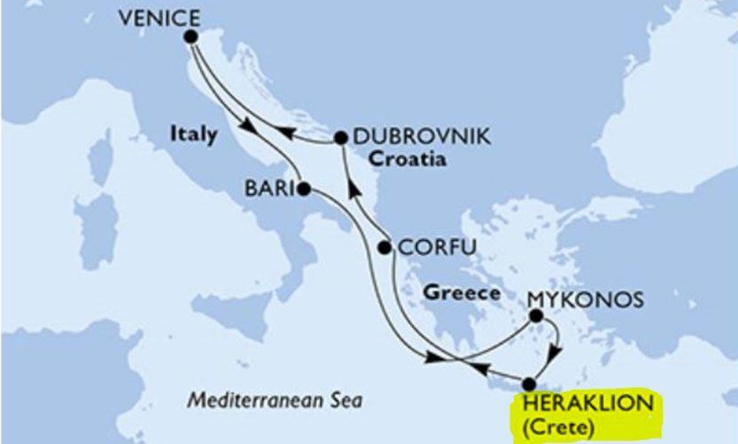 Harmadik kikötőnk: Kréta