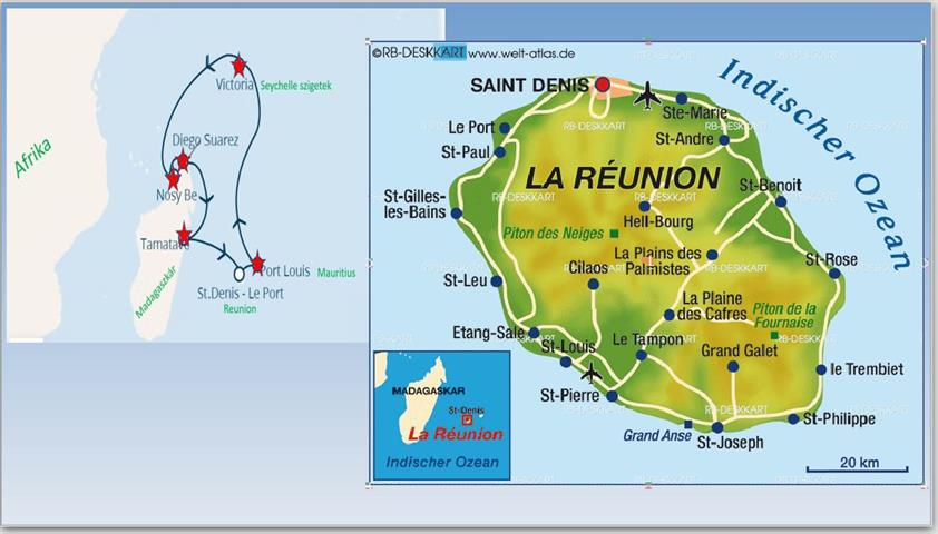 Reunion térkép