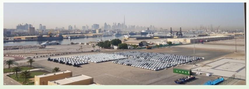 Dubai - az első kikötőnk
