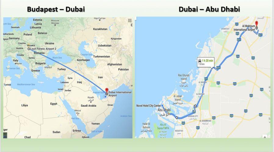 Indulás Abu Dhabi - ba